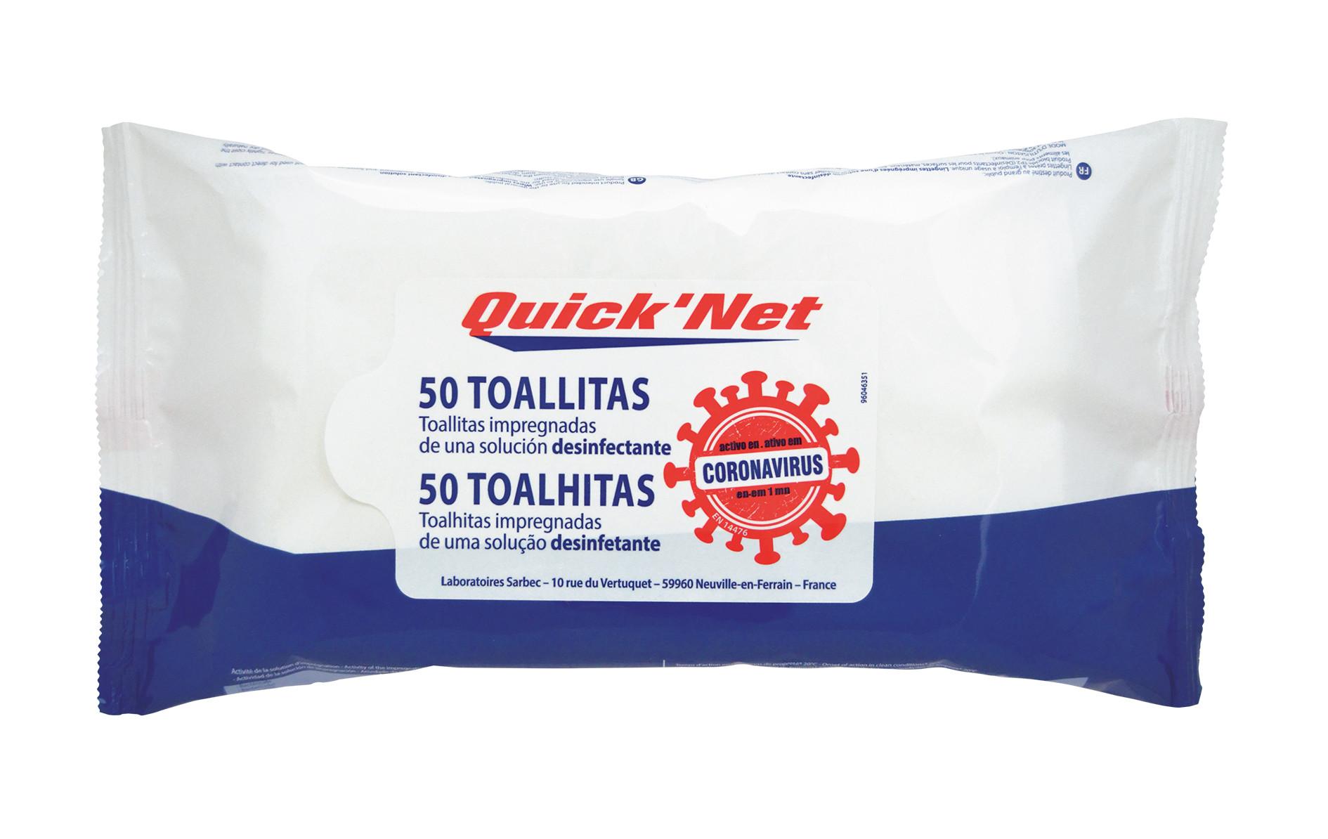 Toalhitas Desinfetantes 50x