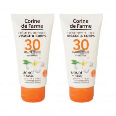 Lot de 2 Crèmes protectrice visage&corps SPF30 50ml