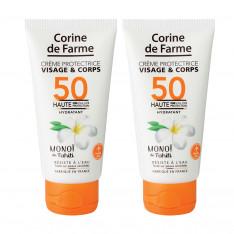 Lot de 2 Crèmes protectrice visage&corps SPF50 50ml