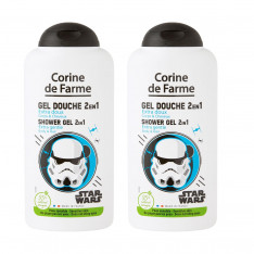 Lot de 2 Gels Douche Disney Star Wars Extra Doux 2 en 1 Corps & Cheveux 250ml