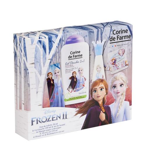 Corine de Farme - La Reine de Neiges 2 Elsa  - Coffret Eau de toilette 30ml + Gel douche 250ml + set de barrettes et bracelet